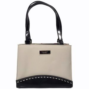 VTG Kate Spade Mini Black & White Color Block Bag